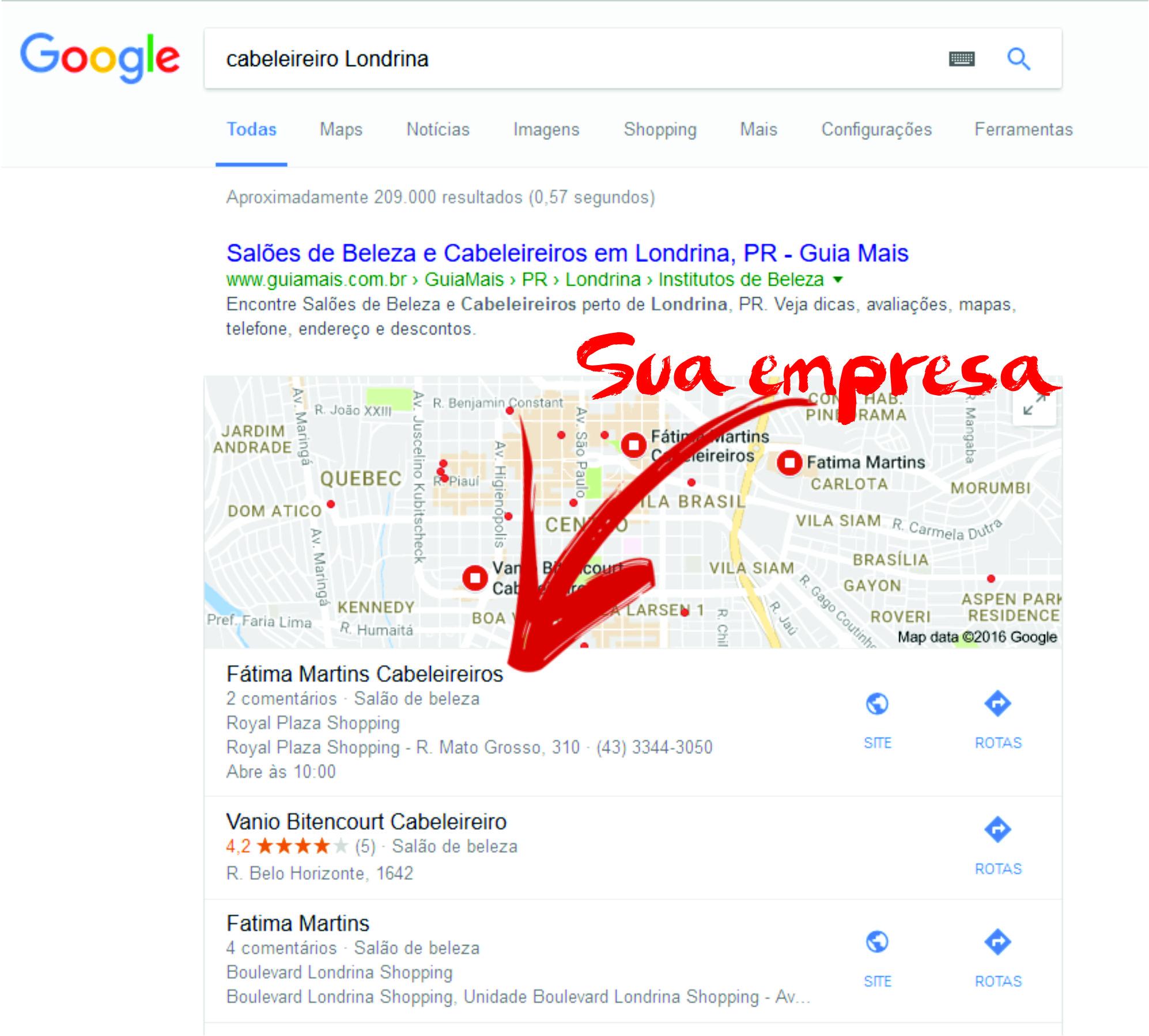 Meu negócio no Google